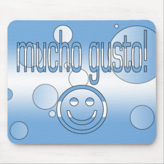 Mucho Gusto! Argentina Flag Colors Pop Art Mouse Pad
