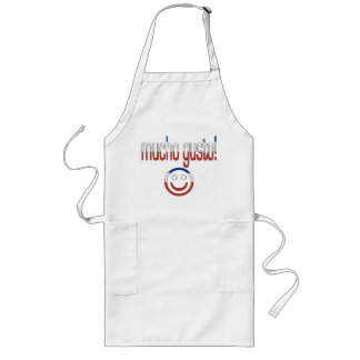 Mucho Gusto! Chile Flag Colors Long Apron