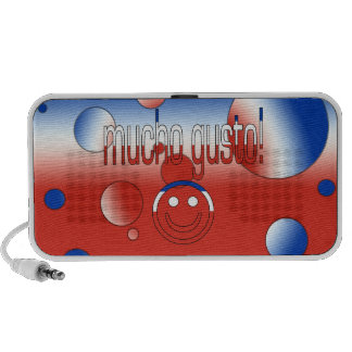 Mucho Gusto! Chile Flag Colors Pop Art iPhone Speaker