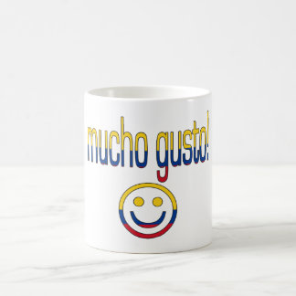 Mucho Gusto! Colombia Flag Colors Coffee Mug