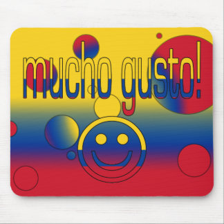 Mucho Gusto! Colombia Flag Colors Pop Art Mouse Pad