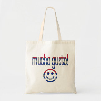 Mucho Gusto! Cuba Flag Colors Budget Tote Bag