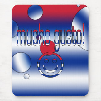 Mucho Gusto! Cuba Flag Colors Pop Art Mouse Pad