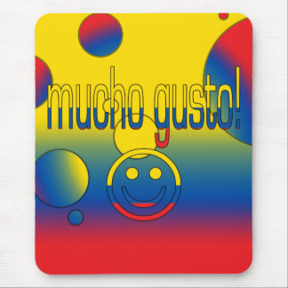 Mucho Gusto! Ecuador Flag Colors Pop Art Mouse Pad
