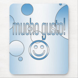 Mucho Gusto! Guatemala Flag Colors Pop Art Mouse Pad