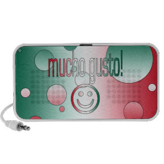 Mucho Gusto! Mexico Flag Colors Pop Art Speaker
