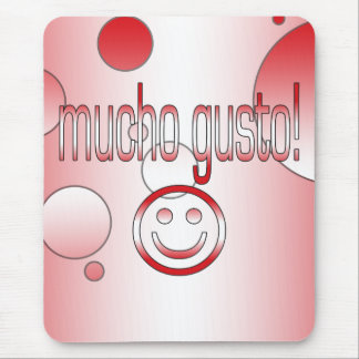Mucho Gusto! Peru Flag Colors Pop Art Mouse Pad