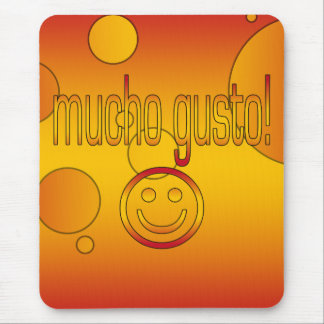 Mucho Gusto! Spain Flag Colors Pop Art Mouse Pad