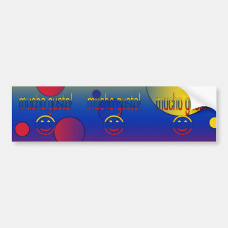 Mucho Gusto! Venezuela Flag Colors Pop Art Bumper Sticker