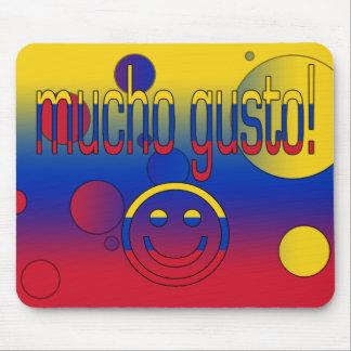 Mucho Gusto! Venezuela Flag Colors Pop Art Mouse Pad