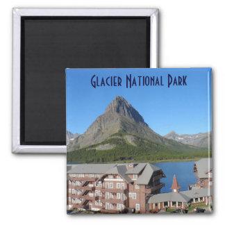 Mucho Parque Nacional Glacier del hotel del glacia Imán Cuadrado