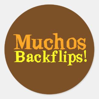 Muchos Backflips! Round Sticker