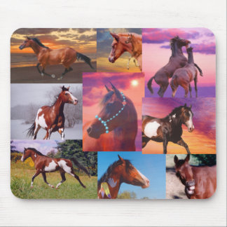 Muchos caballos Mousepad Tapetes De Raton