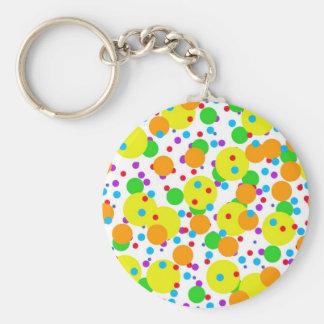 Muchos círculos redondos coloridos llavero personalizado