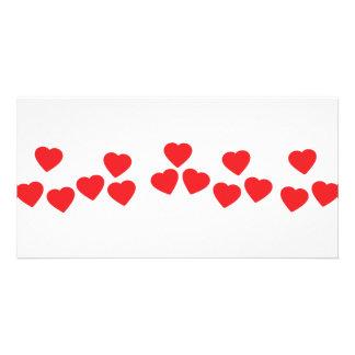 muchos corazones en la línea icono tarjetas fotograficas personalizadas