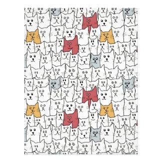 Muchos gatos divertidos plantillas de membrete