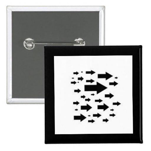 Muchos iconos de la flecha pin cuadrada 5 cm