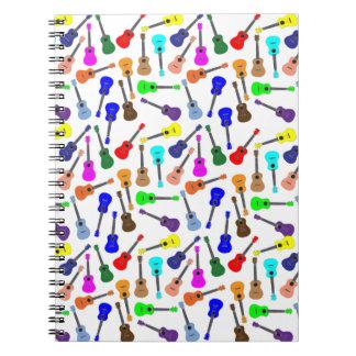 Muchos muchos Ukuleles Spiral Notebooks