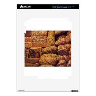Muchos panes mezclados y fondo de los rollos iPad 3 skin