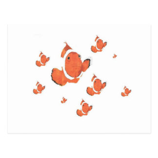Muchos pescados del payaso postal
