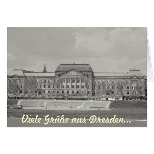 Muchos saludos de Dresden…