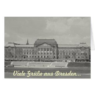 Muchos saludos de Dresden… Tarjeta De Felicitación