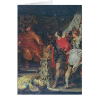 Mucius Scaevola before Lars Porsena, c.1618-20 Card