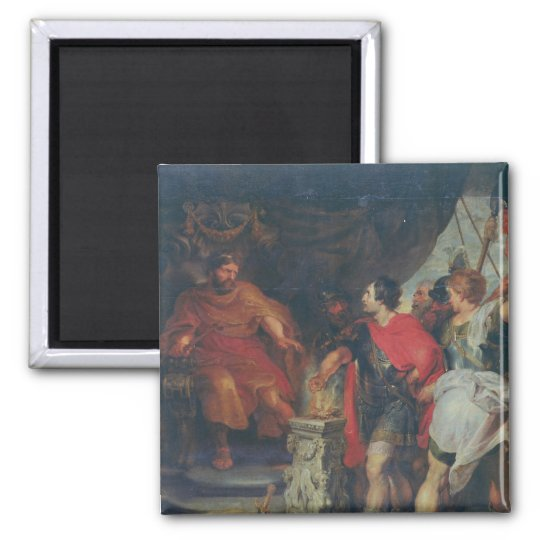 Mucius Scaevola before Lars Porsena, c.1618-20 Magnet
