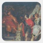 Mucius Scaevola before Lars Porsena, c.1618-20 Square Sticker