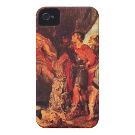 Mucius Scaevola before Porsenna by Paul Rubens iPhone 4 Cases