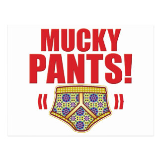 Mucky Pants Flowery Postcards