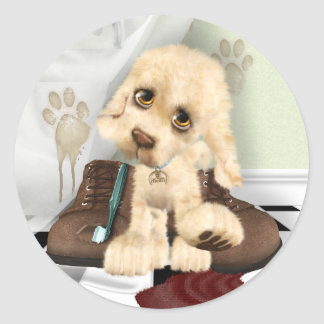 Mucky Pup Classic Round Sticker