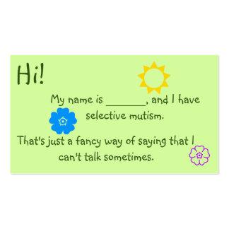 Mucopurulento selectivo para el tema de la flor de tarjetas de visita