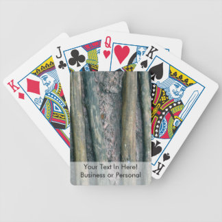 mud and wattle wall detail bicycle playing cards