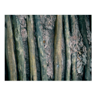 mud and wattle wall detail postcard
