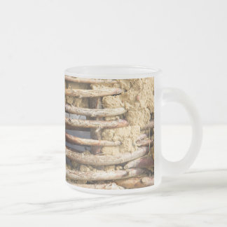 Mud and wattle wall frosted glass coffee mug
