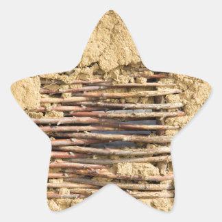 Mud and wattle wall star sticker