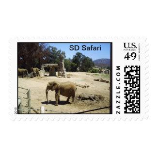 Mud-bath Baby Elephant Postage