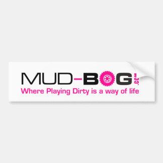 Mud-Bog.com: Donde está una manera el jugar sucio Pegatina Para Auto