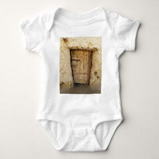 Mud Brick House with old Door  Siwa Oasis, Egypt Baby Bodysuit