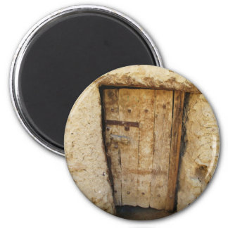 Mud Brick House with old Door  Siwa Oasis, Egypt Magnet