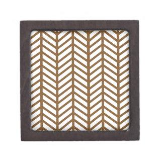 Mud Brown Chevron Folders Premium Trinket Box