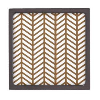 Mud Brown Chevron Folders Premium Jewelry Box