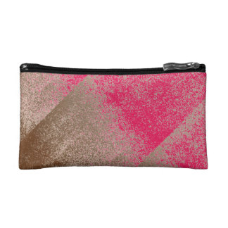 Mud Brown Splash Aged Paint +Pick Your Color Cosmetic Bag