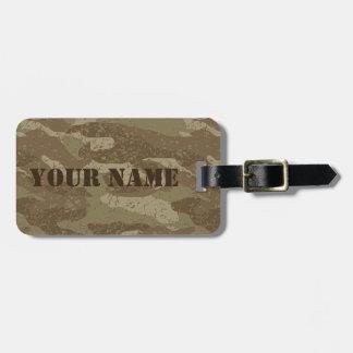 Mud camouflage bag tag