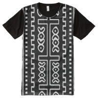 Mud Cloth All-Over-Print T-Shirt