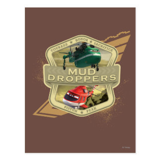 Mud Droppers Postcard