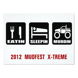 Mud Fest 4x4 Truck Mudding  Event Card