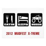 Mud Fest 4x4 Truck Mudding  Event Personalized Invitation