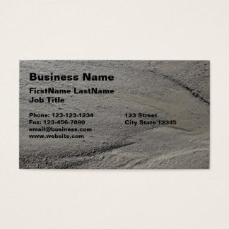 Mud from running water photo business card